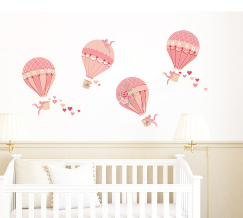 Hot Air Balloon Wall Decals - Vintage Hot Air Balloon Decals