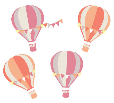 Hot Air Balloon and Cloud Wall Decals