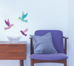 Hummingbird Fabric Wall Decals