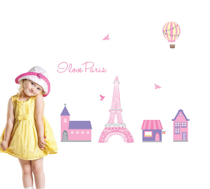 Paris Fabric Wall Decals