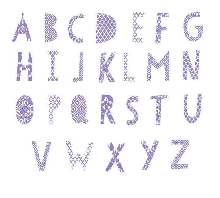 Ikat Alphabet Wall Decals 1