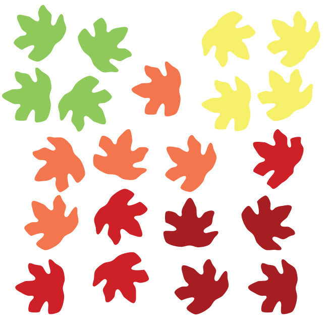 Fall and Spring Leaf Fabric Wall Decals