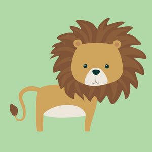Lion Wall Decal - Jungle Animal Fabric Wall Decal