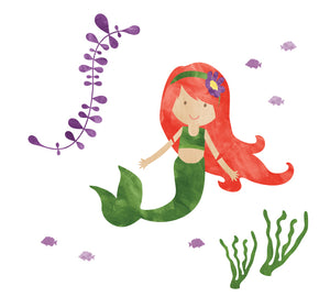 Mermaid Wall Decals - Watercolor Mermaids