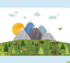 Mountain Wall Decals - Mountain Forest Fabric Decals