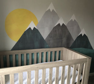 Mountain Wall Decals - Mountain Range Fabric Decals