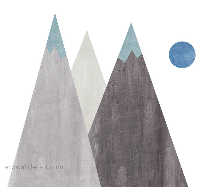 Mountain Fabric Wall Decals - Watercolor Mountain Stickers