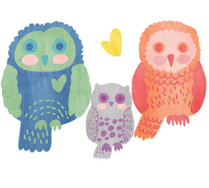 Owl Wall Decals - Watercolor Owls