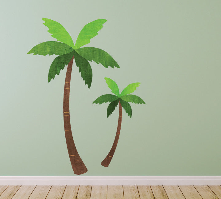 Palm Tree Wall Decals in Watercolor