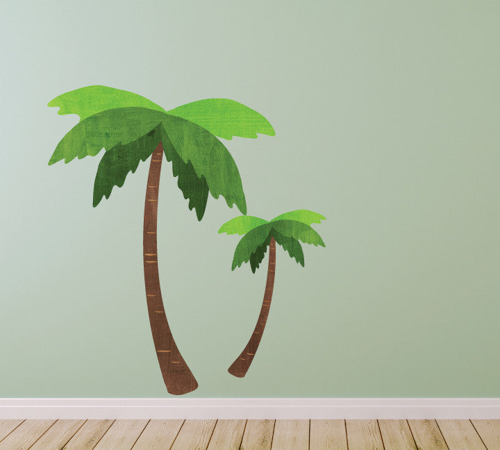 Palm Tree Wall Decals In Watercolor Part 75