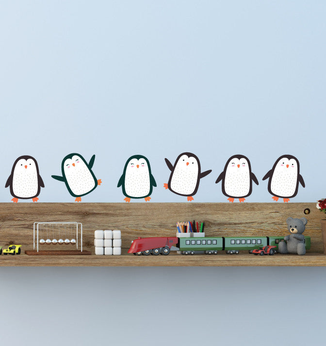 Penguin Wall Decal - Penguin Fabric Wall Decals