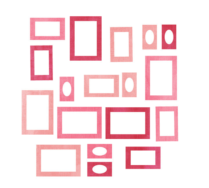 Photo Frame Fabric Wall Decals - Watercolor Frame Decals
