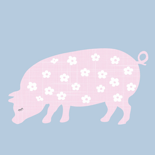 Pig Fabric Wall Decals