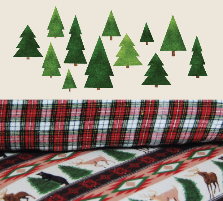 Woodland Crib Sheet - Cotton Flannel Crib/Toddler Sheet Deer