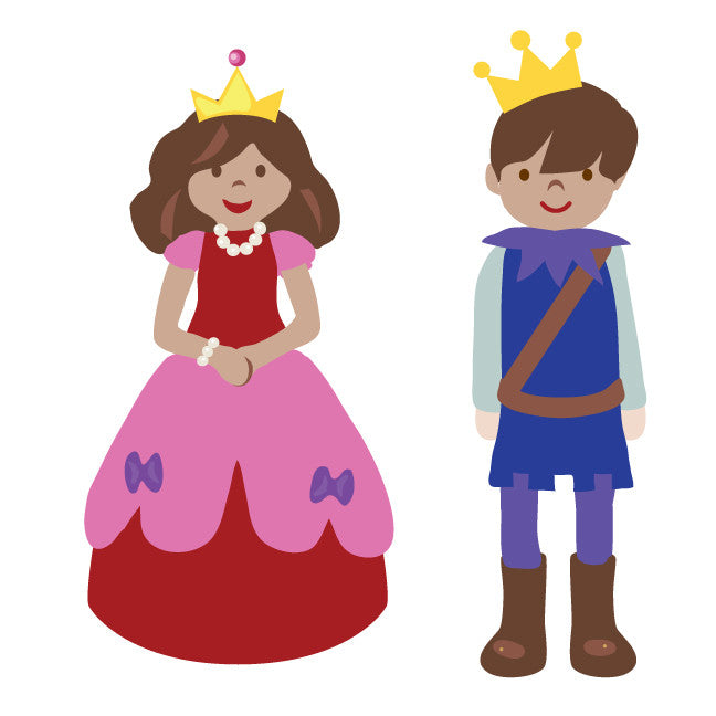 Princess Fabric Wall Decals Prince And Princess Wall Decals Eco Wall Decals