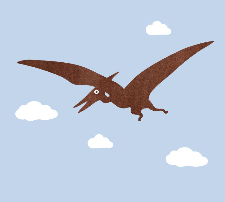 Pteradactyl Wall Decals - Dinosaur Fabric Wall Decals