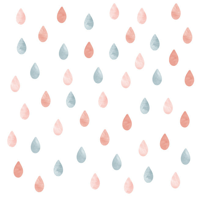 Rain Watercolor Wall Decals