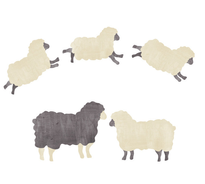 Sheep Family Wall Decals