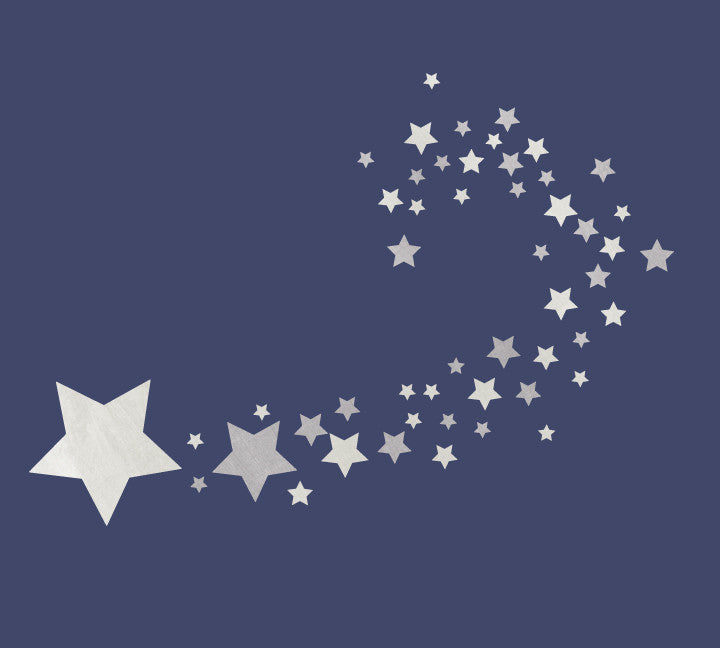 Shooting Star Fabric Wall Decal - Watercolor Star Wall Decals