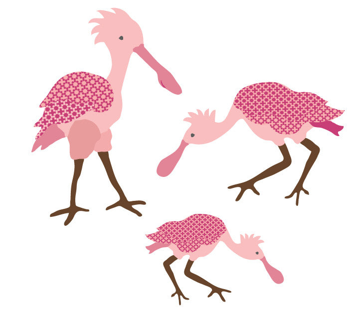 Spoonbill Bird Fabric Wall Decals