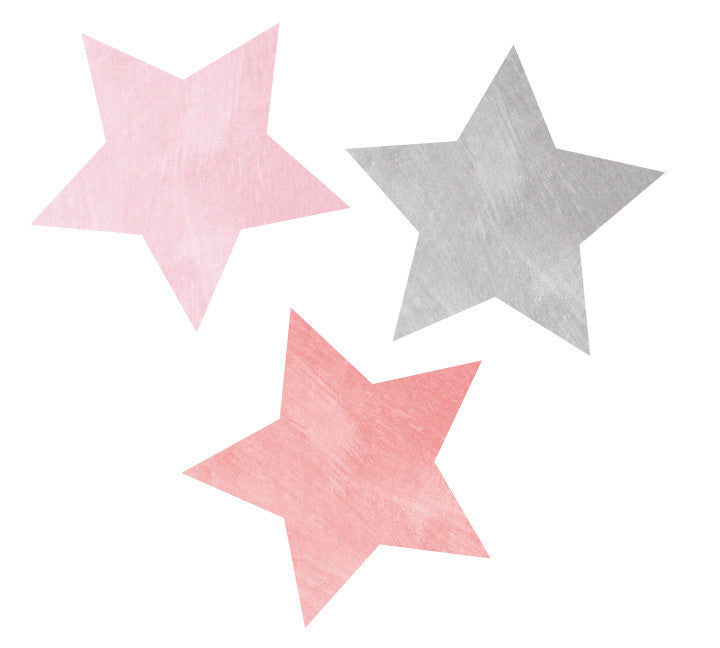 Star Fabric Wall Decal - Watercolor Star Wall Decals