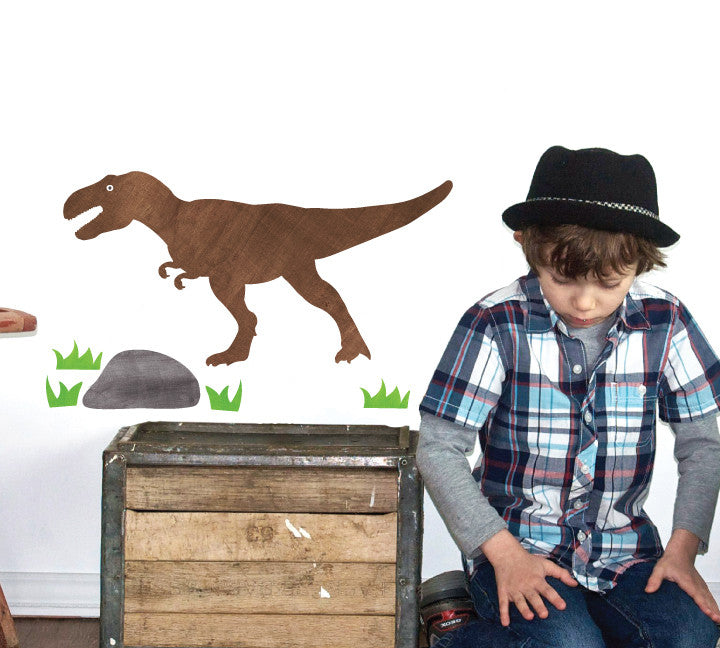 T-Rex Wall Decals - Dinosaur Fabric Wall Decals Medium
