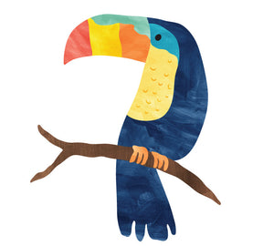 Toucan Wall Decal - Bird on Branch