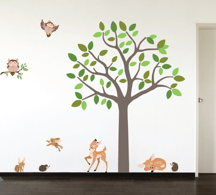 Tree and Forest Friends Wall Decals - Custom Colors