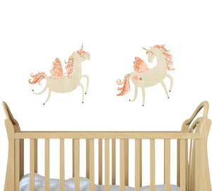 Unicorn Wall Decal - Watercolor Fabric Wall Decals