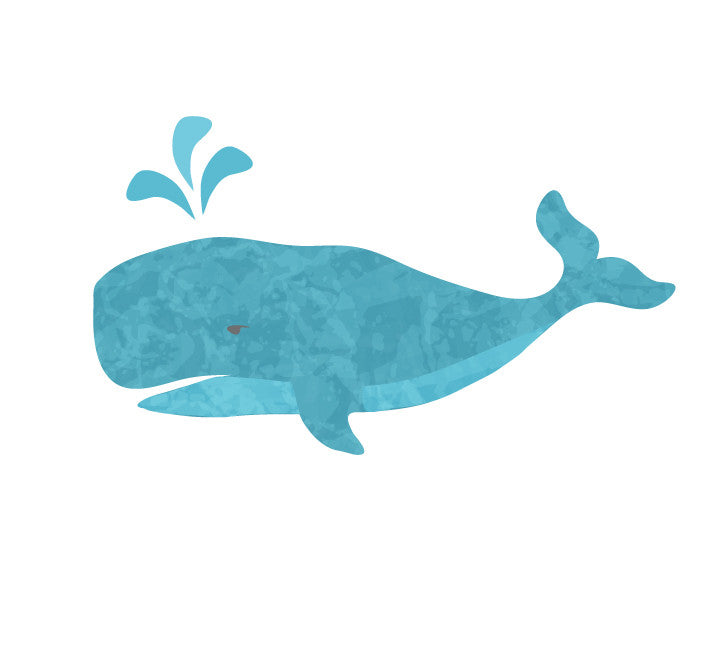 Whale Fabric Wall Decals