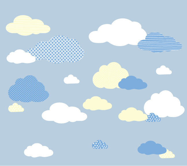 Cloud Fabric Wall Decals