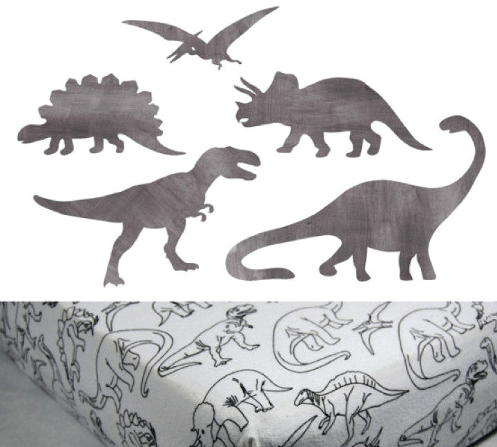 Dinosaur Crib Sheet - Cotton Flannel Crib/Toddler Sheet