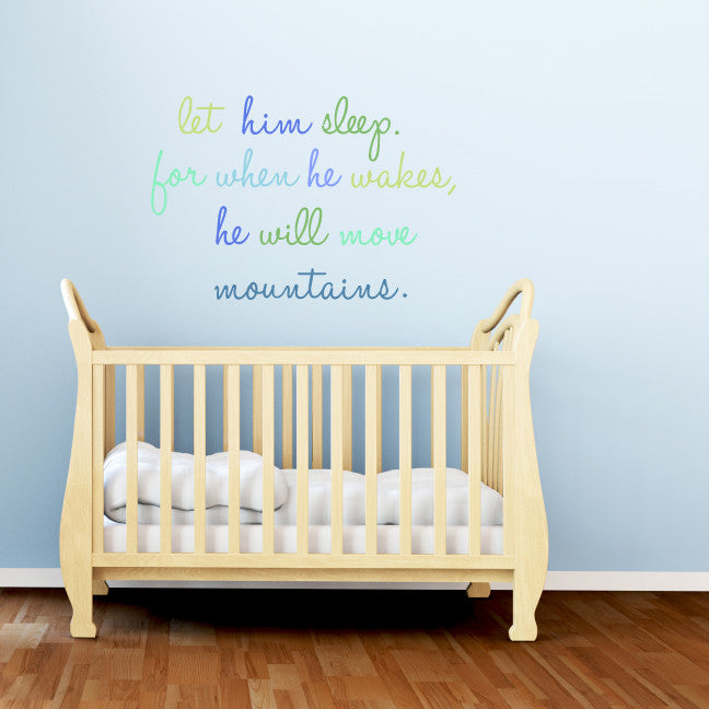 let him sleep fabric wall decals & stickers from eco wall decals