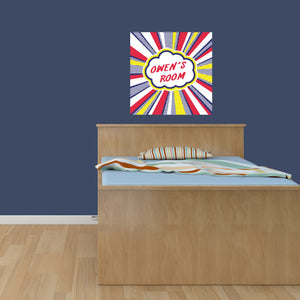 Super Hero Personalized Poster Wall Decal