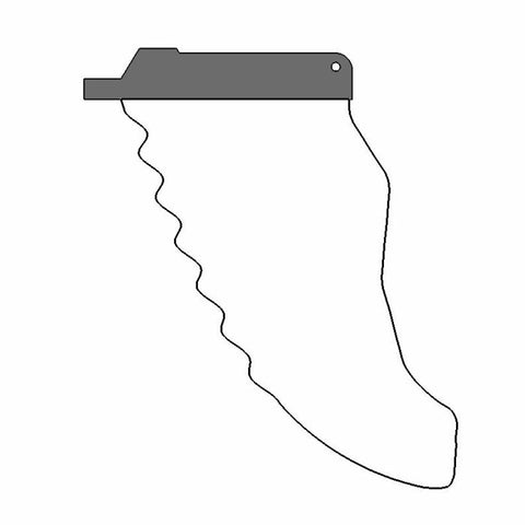 2d windsurfing fin template