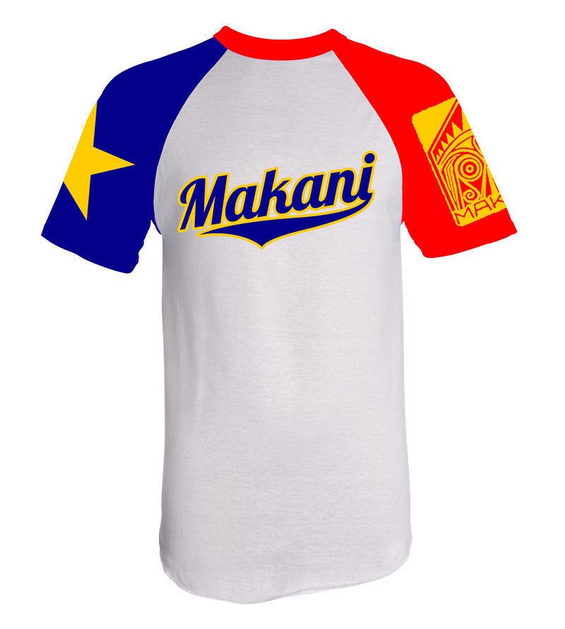 T-SHIRT , Makani Fins, WHITE-BLUE-RED Acadia - 1