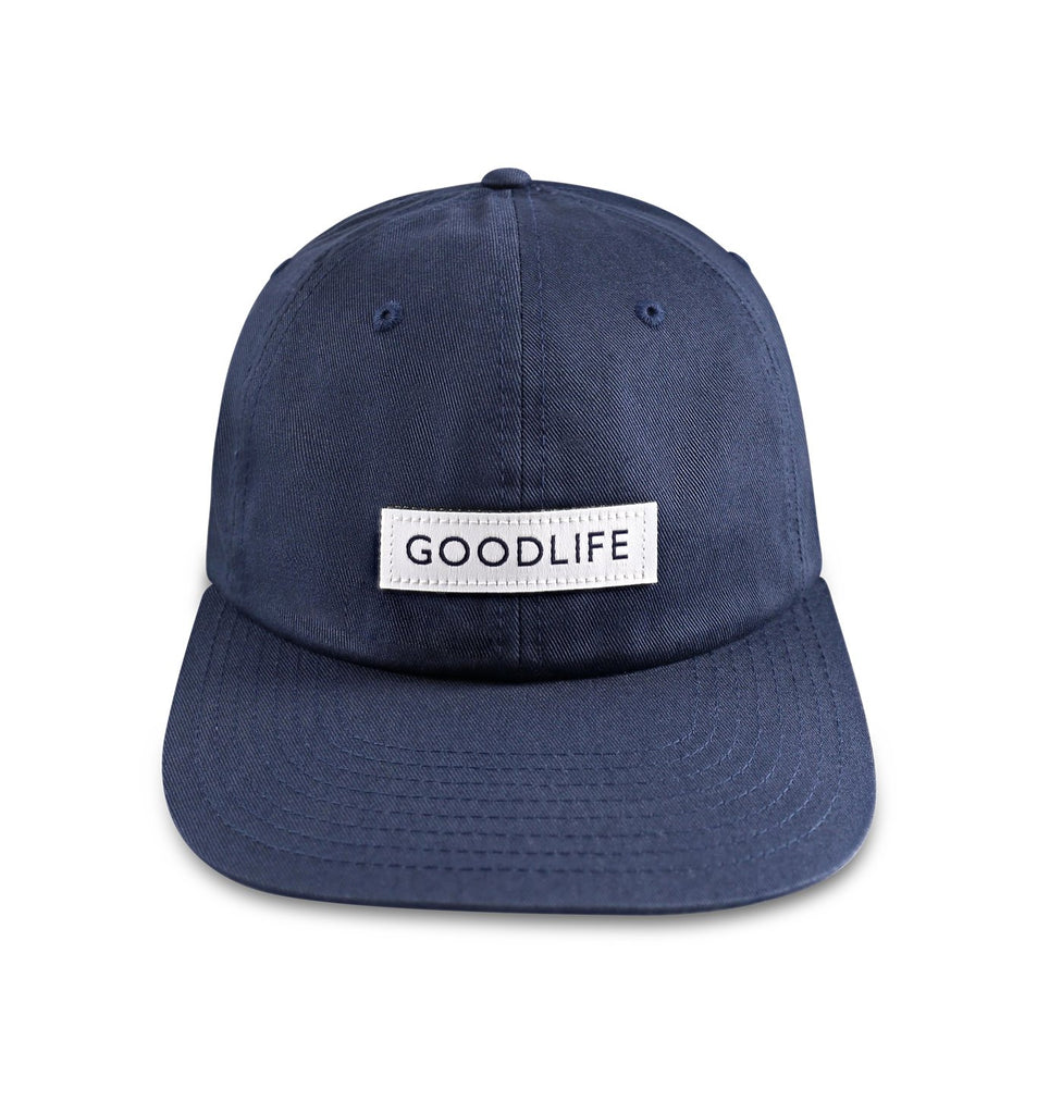 Curved Brim Box Logo Hat | Midnight
