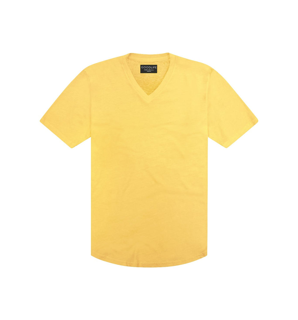 Tri-Blend Scallop V | Empire Yellow