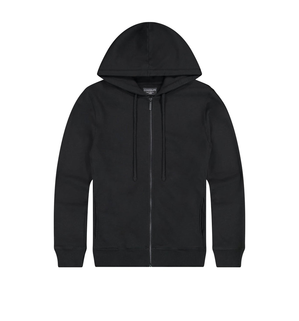 Loop Terry Zip Hoody | Black