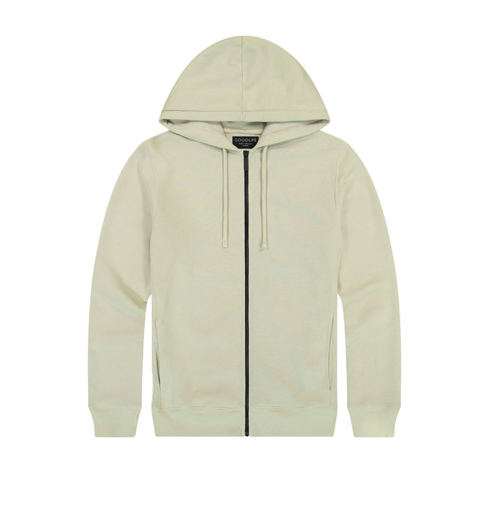 Loop Terry Zip Hoody | Pelican