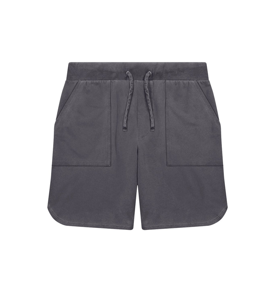 Sun-Faded Micro Terry Short | Black