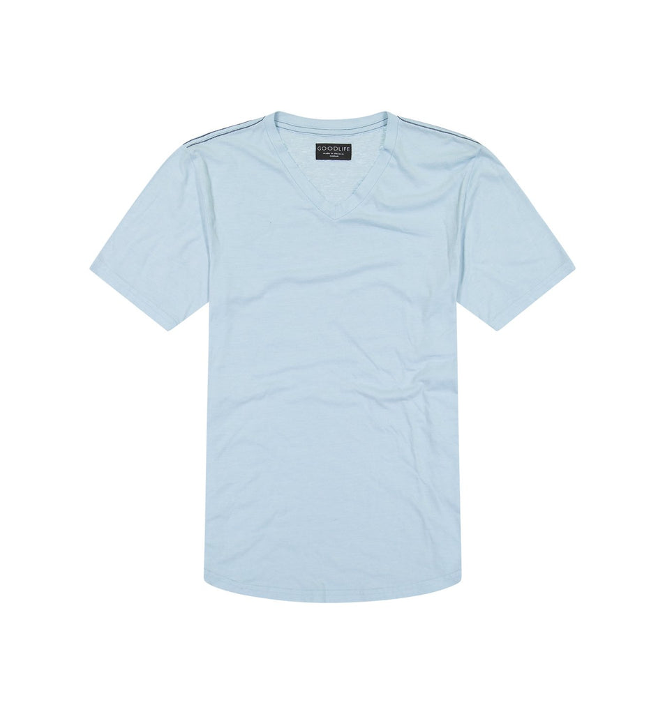 Tri-Blend Scallop V | Cool Blue
