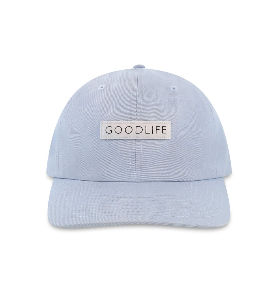 Curved Brim Box Logo Hat | Cool Blue
