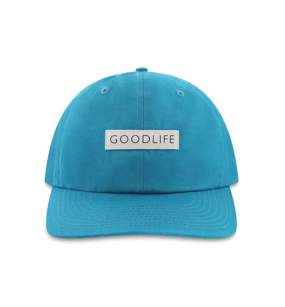 Curved Brim Box Logo Hat | Enamel Blue