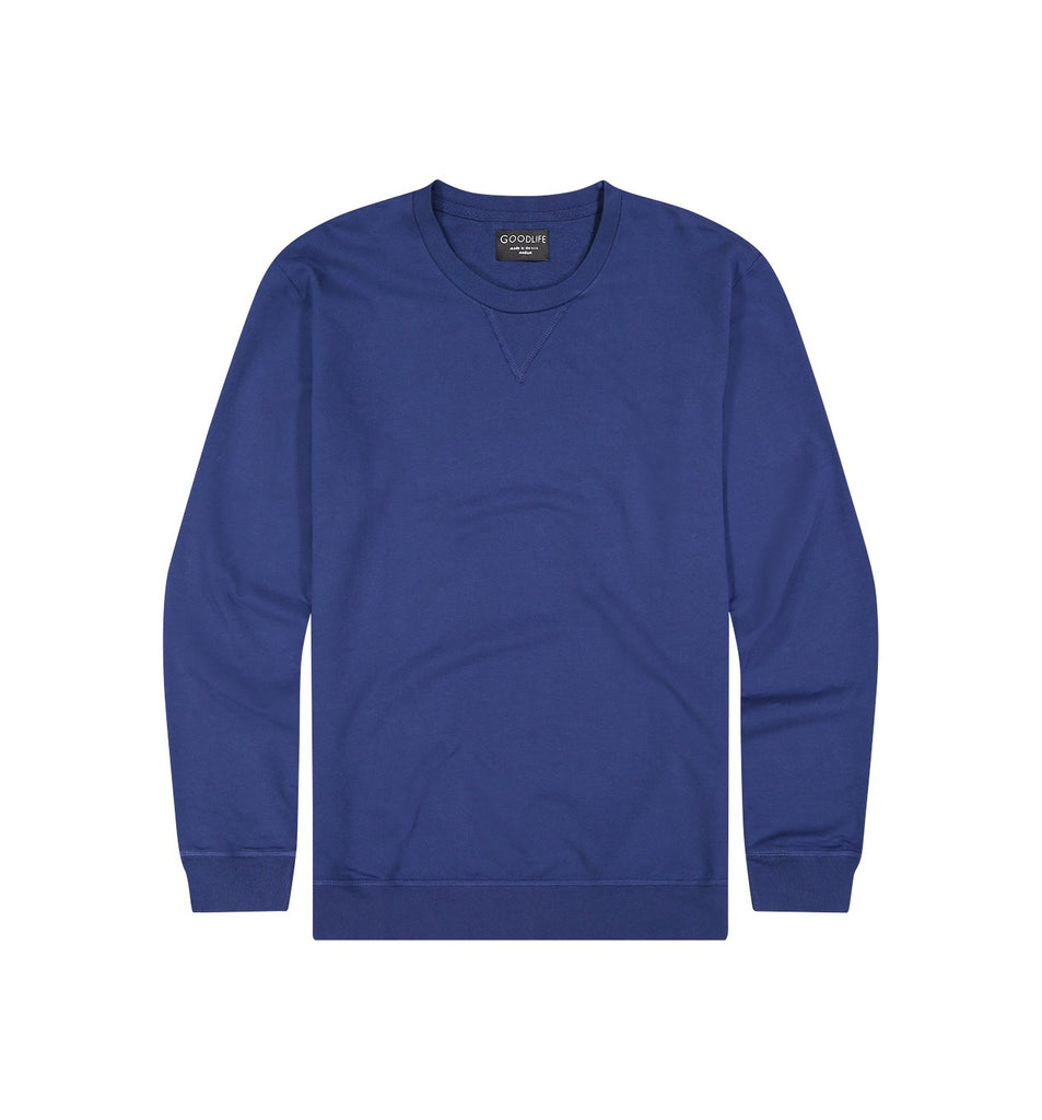 Micro Terry Crew Sweatshirt | Goodlife Navy