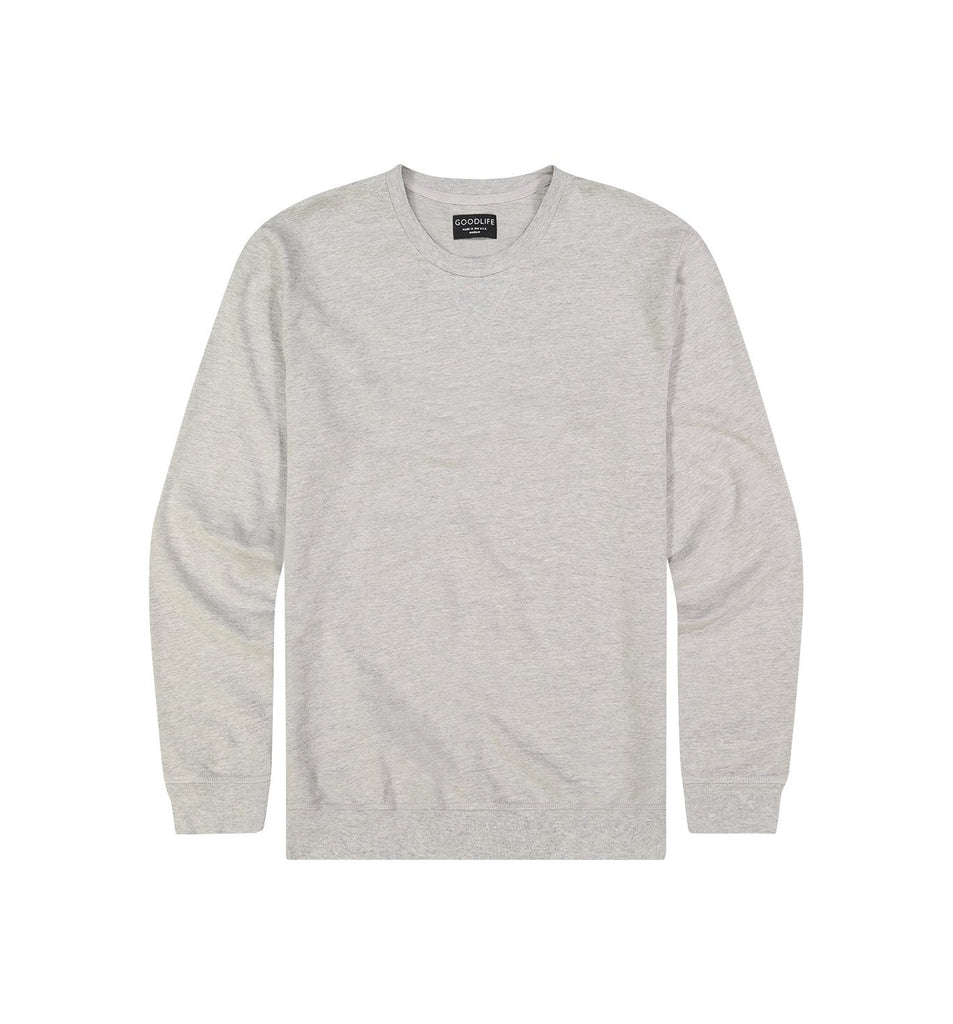 Micro Terry Crew Sweatshirt | Lt. Heather Grey