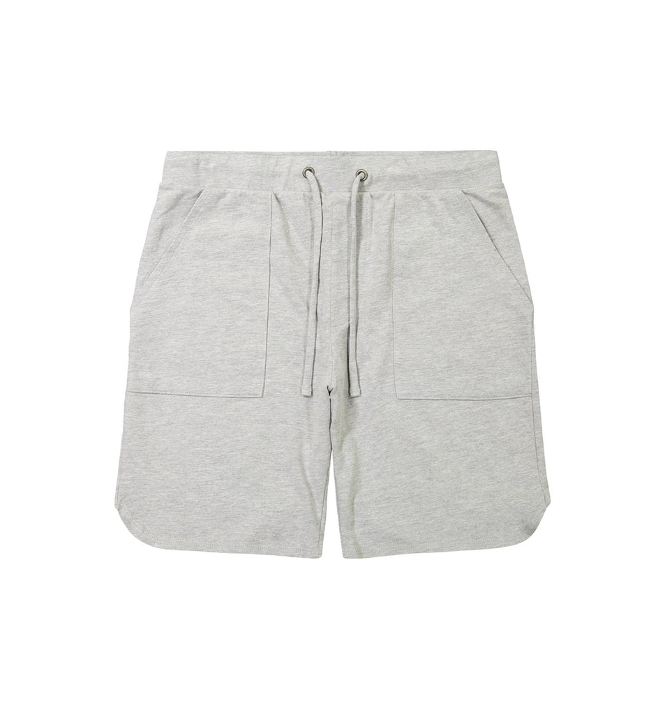 Micro Terry Scallop Short | Lt. Heather Grey