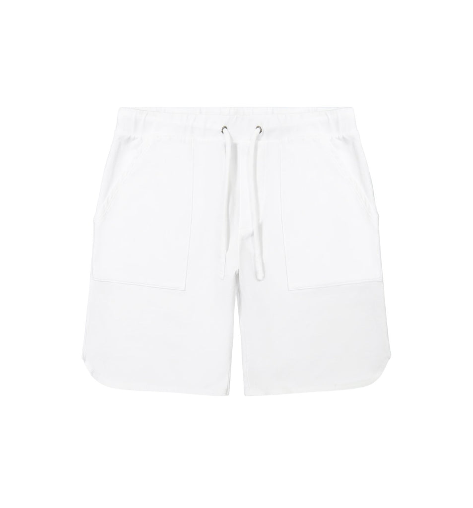 Micro Terry Scallop Short | White
