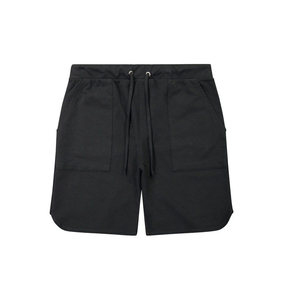 Micro Terry Scallop Short | Black