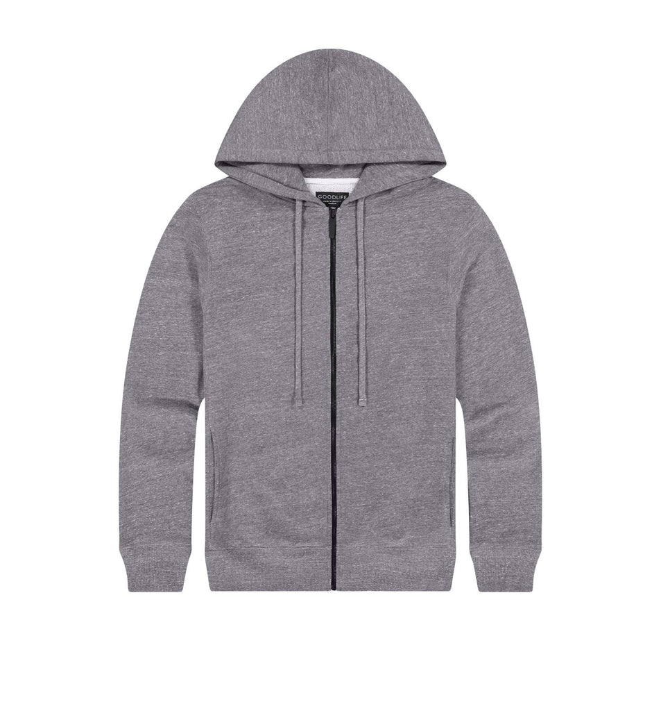 Loop Terry Zip Hoody | Heather Grey